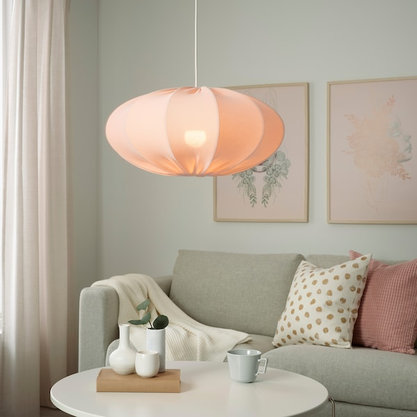 REGNSKUR 렝스쿠르 펜던트전등갓, 타원형 핑크, 52 cm