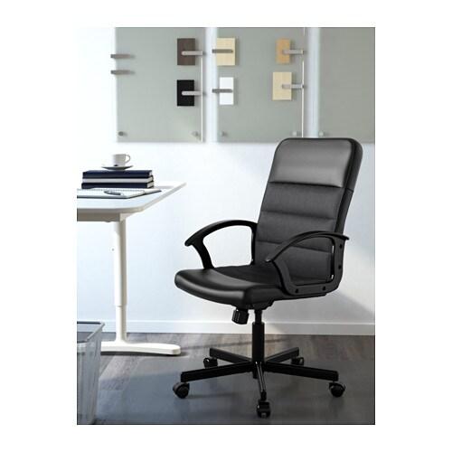 RENBERGET 렌베리에트 회전의자 IKEA 등받이의 탄성 강도를 움직임과 체중에 맞게 조절할 수 있습니다. 의자의 높이를 조절하여 편안하게 앉을 수 있습니다.