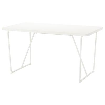 뤼데베크 테이블 화이트/바카뤼드 화이트 150 cm 78 cm 75 cm