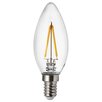 RYET 뤼에트 LED전구 E14 200루멘, 샹들리에/투명