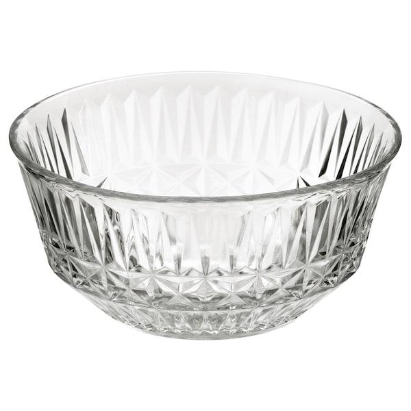 SÄLLSKAPLIG 셀스카플리그 그릇, 유리/패턴, 15 cm