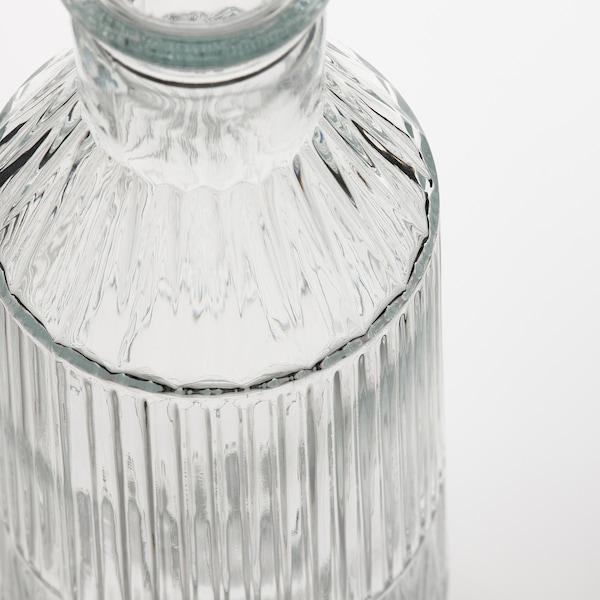 SÄLLSKAPLIG 셀스카플리그 유리병+마개, 유리/패턴, 1 l