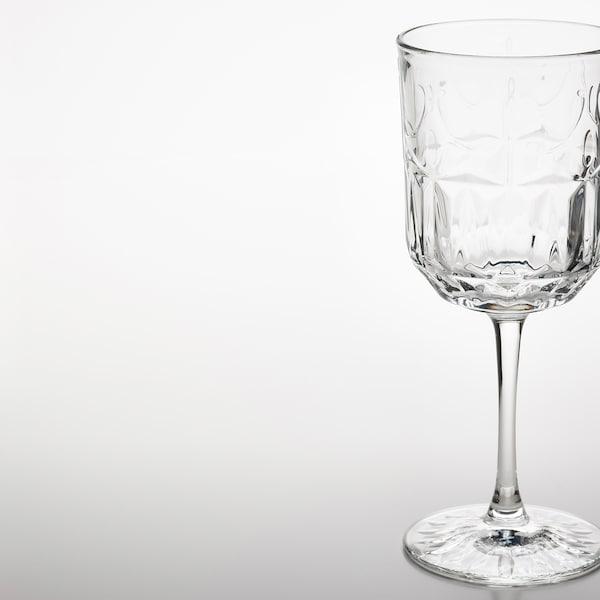 SÄLLSKAPLIG 셀스카플리그 와인잔, 유리/패턴, 27 cl