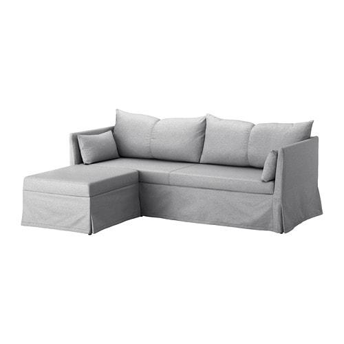 SANDBACKEN 코너소파베드 - 프릴레스타드 라이트그레이 - IKEA