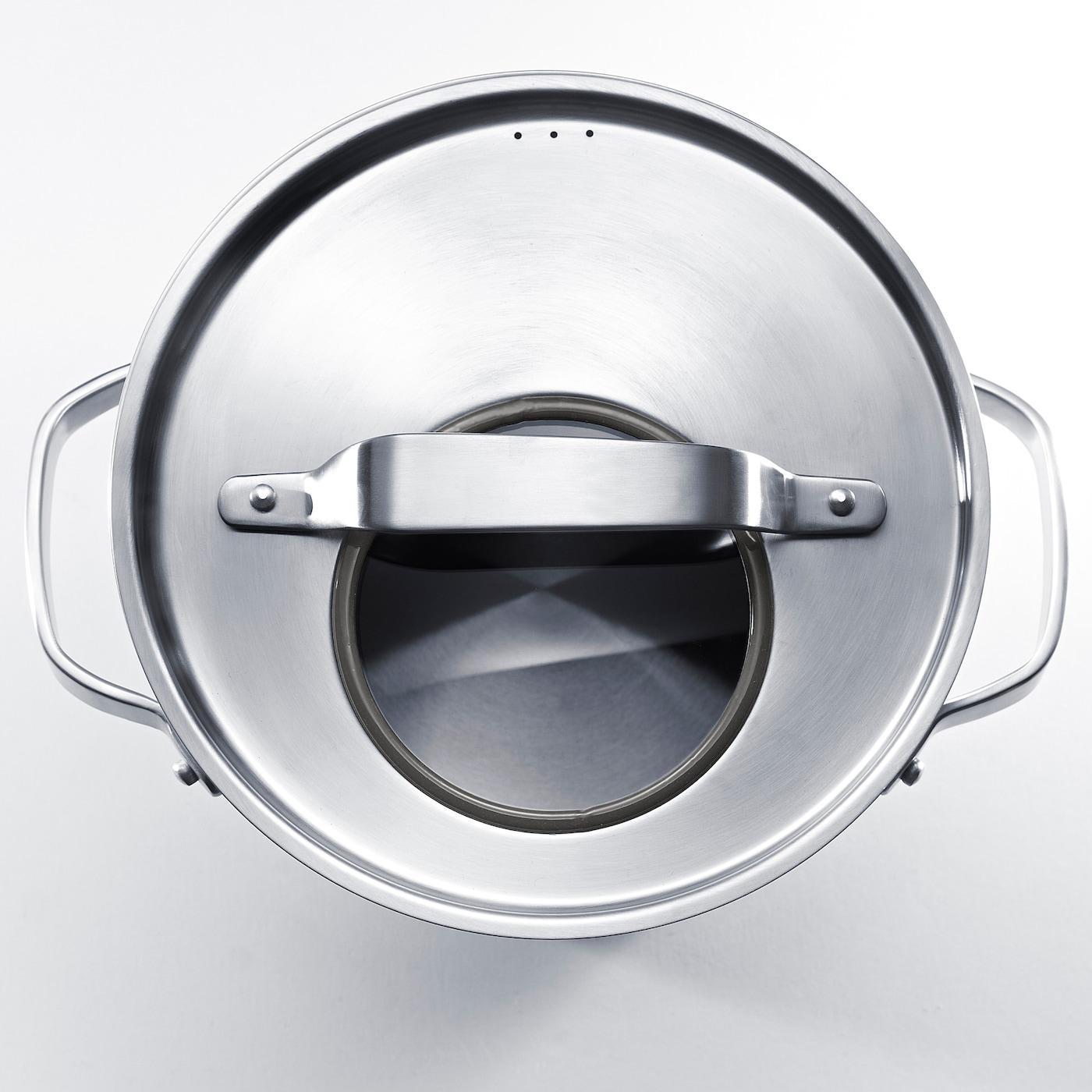 SENSUELL 센수엘 냄비+뚜껑, 스테인리스/그레이, 4 l