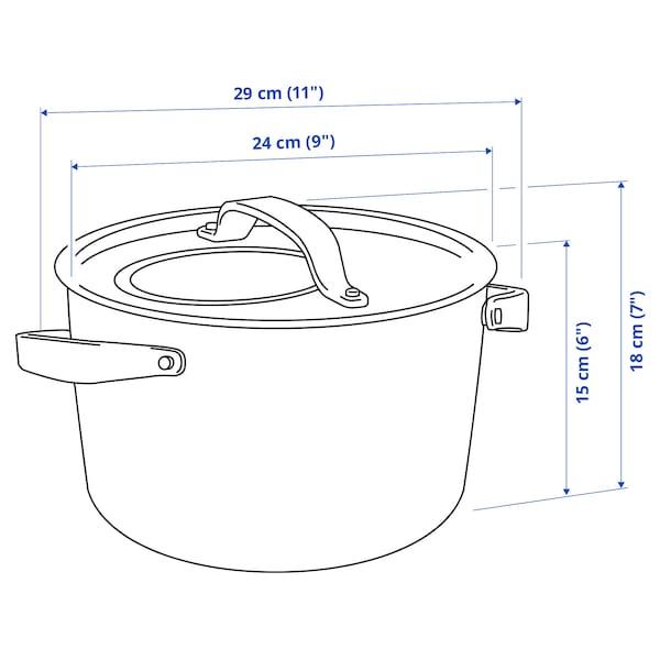 SENSUELL 센수엘 냄비+뚜껑, 스테인리스/그레이, 5.5 l