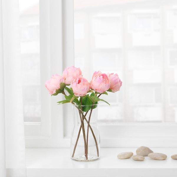 SMYCKA 스뮈카 조화, 작약/핑크, 30 cm