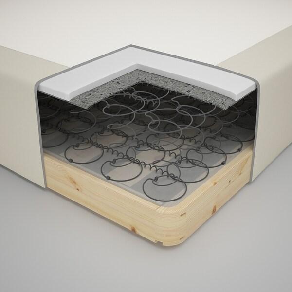 SNARUM 스나룸 일체형 스프링 매트리스, 단단함/베이지, 120x200 cm
