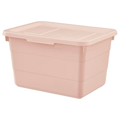 SOCKERBIT 소케르비트 수납함+뚜껑, 핑크, 19x26x15 cm