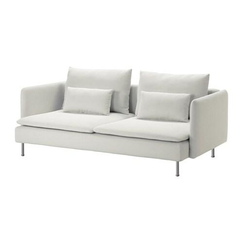 SÖDERHAMN 쇠데르함 3인용소파 IKEA SÖDERHAMN/쇠데르함 의자 시리즈는 깊숙하고 편안하게 앉을 수 있으며 등쿠션에 편하게 기댈 수 있습니다. 커버를 벗겨서 물세탁할 수 있습니다.