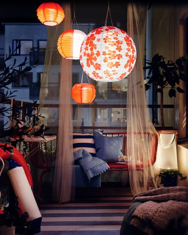 SOLVINDEN 솔빈덴 LED태양광플로어스탠드, 원뿔 모양 화이트, 45 cm