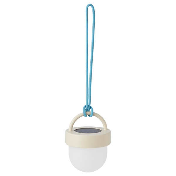 SOLVINDEN 솔빈덴 LED태양광펜던트등, 그레이 블루/실외용 구형, 10 cm