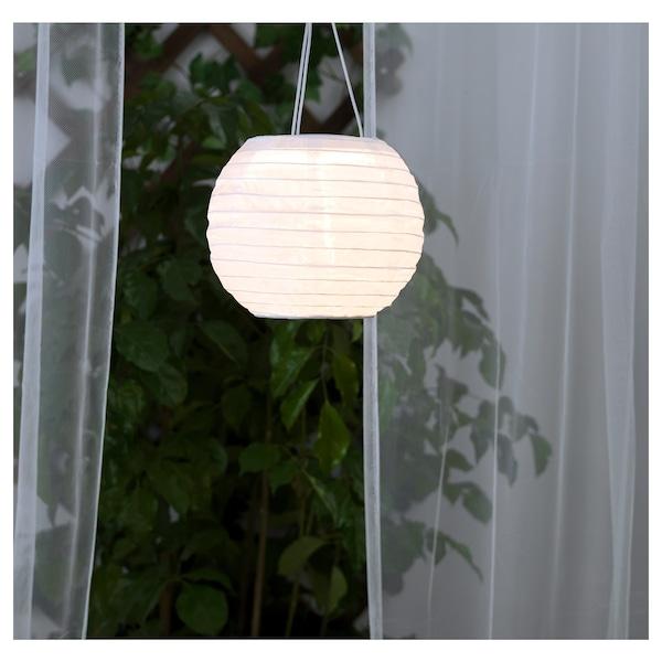 SOLVINDEN 솔빈덴 LED태양광펜던트등, 실외용/구형 화이트, 22 cm