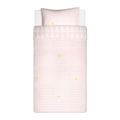 STILLSAMT 스틸삼트 이불커버+베개커버 IKEA 면 소재로 아이의 피부에 닿는 느낌이 부드럽습니다. 촘촘하게 짠 순면 패브릭으로 내구성이 좋고 때가 잘 묻지 않으며 부드럽습니다. 60°C에서 물세탁할 수 있습니다.