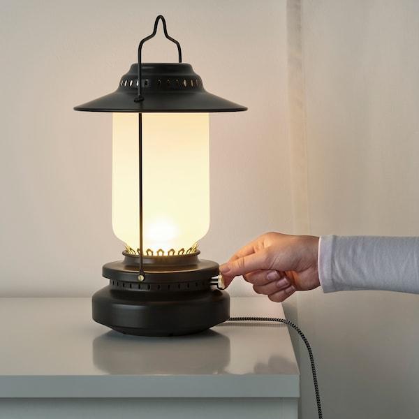 STORHAGA 스토르하가 LED 탁상스탠드, 밝기조절 실외용/블랙, 35 cm