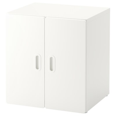 STUVA 스투바 / FRITIDS 프리티스 수납장, 화이트/화이트, 60x50x64 cm