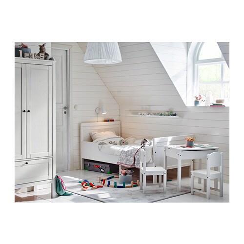 SUNDVIK 순드비크 길이조절침대+갈빗살 IKEA 어린이가 성장함에 따라 길이를 연장할 수 있습니다.