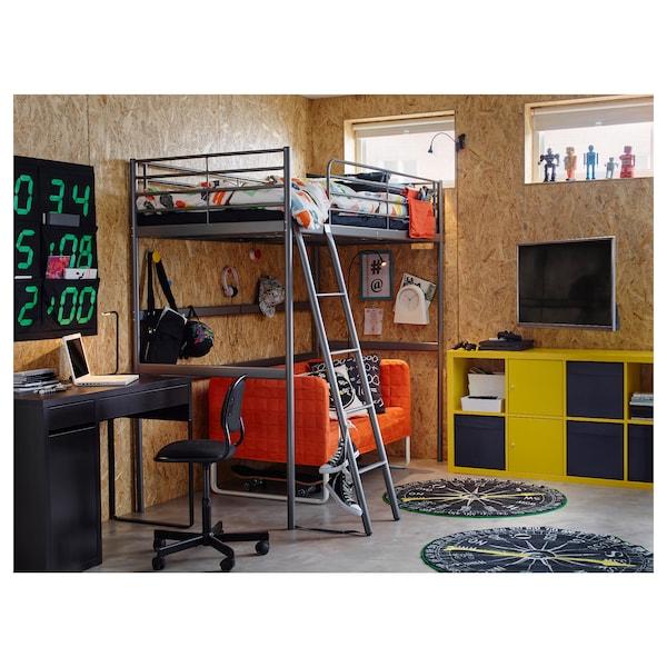 SVÄRTA 스베르타 로프트침대프레임, 실버, 90x200 cm