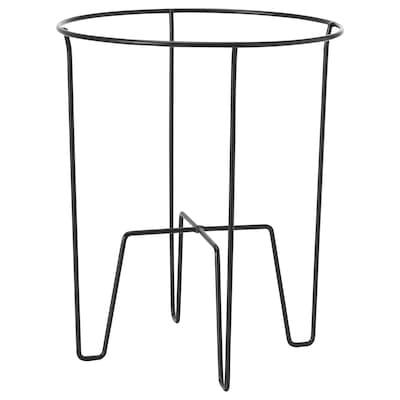 SVARTPEPPAR 스바르트페파르 화분스탠드, 실내외겸용 블랙, 32 cm