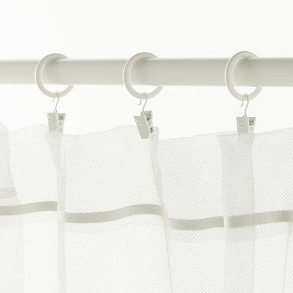 SYRLIG 쉴리그 커튼링+클립/고리, 화이트, 25 mm