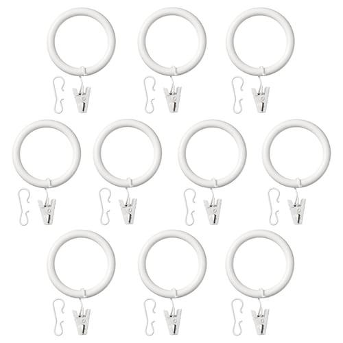 IKEA 쉴리그 커튼링+클립/고리