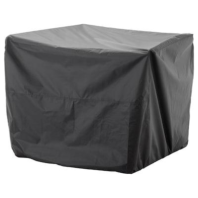 TOSTERÖ 토스테뢰 야외용가구 커버, 소파/블랙, 109x85 cm