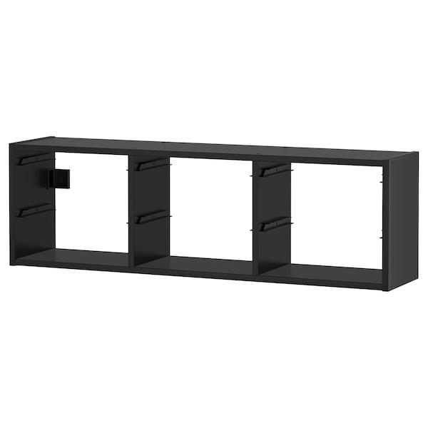 TROFAST 트로파스트 벽수납장, 블랙, 99x21x30 cm