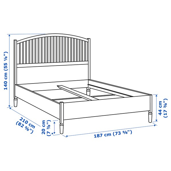 TYSSEDAL 튀세달 침대프레임, 화이트/뢴세트, 180x200 cm