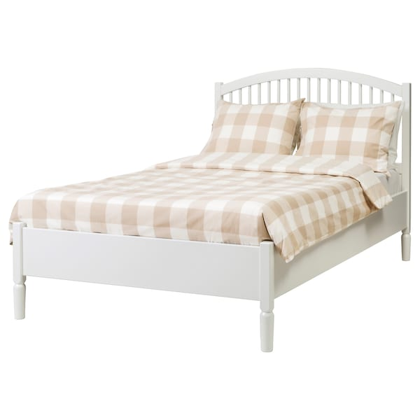 TYSSEDAL 튀세달 침대프레임, 화이트/루뢰위, 120x200 cm