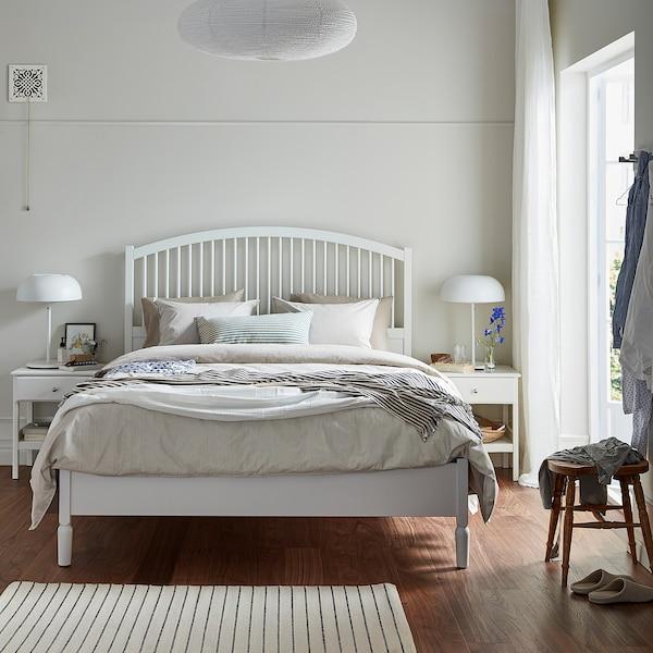 TYSSEDAL 튀세달 침대프레임, 화이트/루뢰위, 150x200 cm