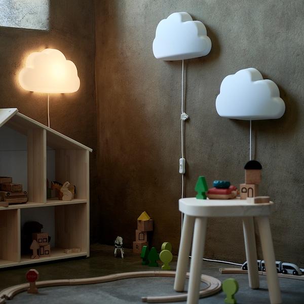UPPLYST 우플뤼스트 LED벽부착등, 구름 화이트