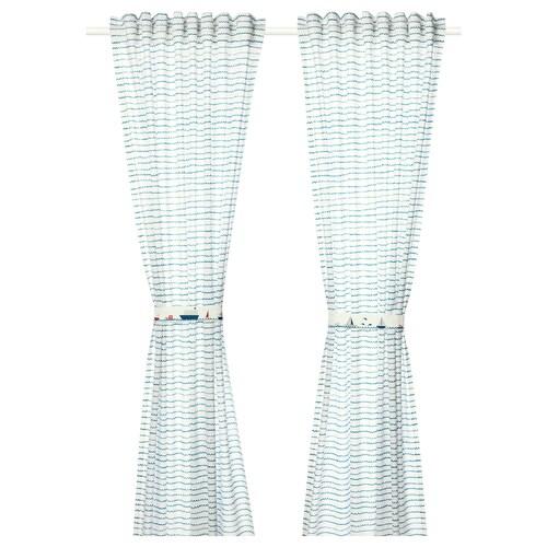 IKEA 웁토그 커튼한쌍+장식띠
