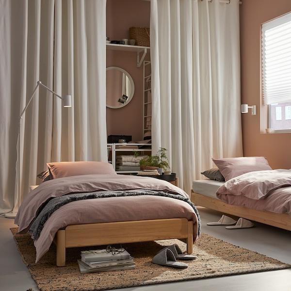 UTÅKER 우토케르 적층식침대+매트리스2, 소나무/모스훌트 단단함, 80x200 cm