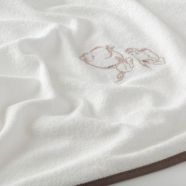 VÄDRA 베드라 기저귀교환 매트 커버, 토끼/화이트, 74x80 cm