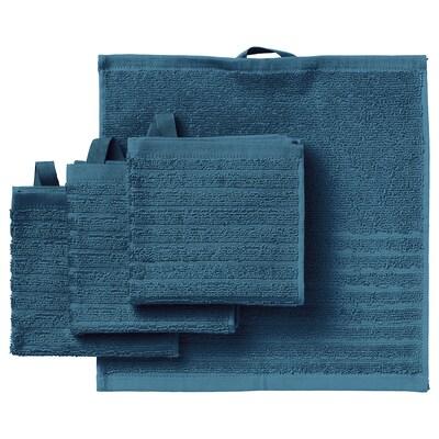 VÅGSJÖN 복셴 핸드타올, 블루, 30x30 cm