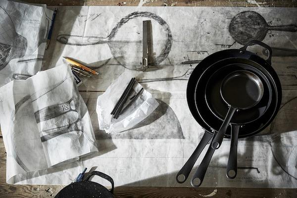 VARDAGEN 바르다겐 프라이팬, 카본스틸, 28 cm