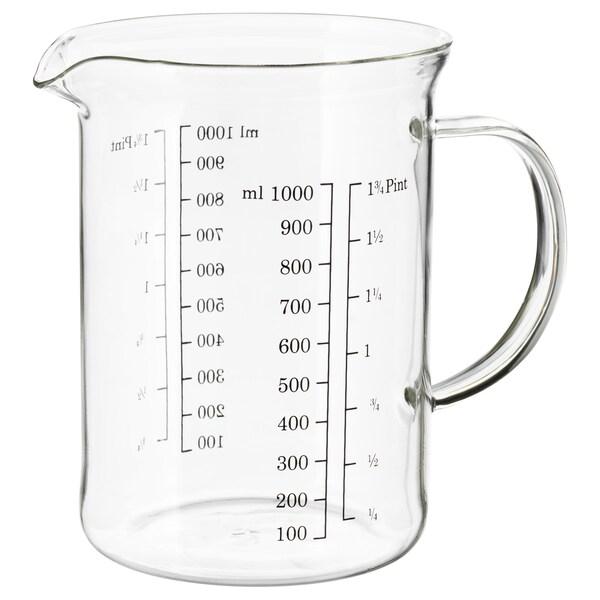 VARDAGEN 바르다겐 계량컵, 유리, 1.0 l