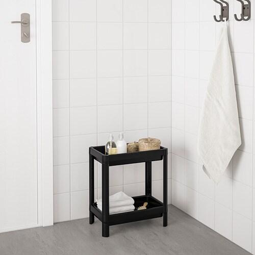 VESKEN 베스켄 선반유닛 IKEA 다른 도구 없이도 서로 끼우기만 하면 쉽고 빠르게 선반유닛을 완성할 수 있습니다. 높은 턱이 있어 샴푸, 컨디셔너, 스폰지등을 떨어뜨리지 않고 수납할 수 있습니다. 작은 욕실에서도 실용적으로 사용할 수 있습니다.