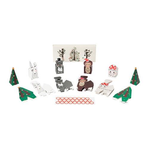 VINTER 2018 빈테르 2018 대림달력 25종 IKEA 선물상자에 작은 선물을 담아 개성 넘치는 재림절 달력을 만들어보세요. 크리스마스를 기다리는 시간이 더욱 특별해집니다. 함께 구성된 스티커를 이용해 상자에 번호를 매길 수 있습니다.