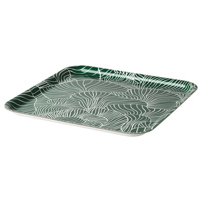 VINTERSNÖ VINTERSNÖ 빈테르스뇌 트레이, 패턴/그린, 33x33 cm