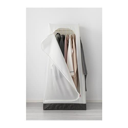 VUKU 부쿠 옷장 IKEA 양쪽 면에 후크가 하나씩 있어서 옷, 가방이나 소지품을 가까이 걸어두기에 좋습니다. 바닥을 닦고 싶을 때는 그냥 젖은 천으로 가볍게 닦으면 됩니다. FRAKTA/프락타 가방과 같은 재질인 폴리프로필렌 플라스틱으로 만들었기 때문이죠.