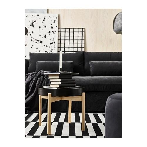 YPPERLIG 위펠리그 커피테이블 IKEA 자작나무 원목은 단단한 천연 소재입니다. 제품구성에 포함된 플라스틱 다리받침을 사용하면 바닥에 흠집이  생기지 않습니다.