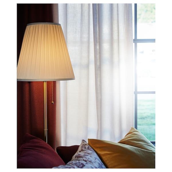 ÅRSTID مصباح ارضي نحاس أصفر/أبيض 100 واط 155 سم 28 سم 36 سم 204 سم