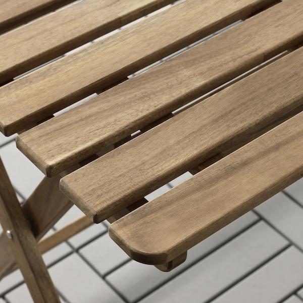 ASKHOLMEN طاولة+4 كراسي قابلة للطي، خارجية صباغ رمادي-بني/Froson/Duvholmen رمادي غامق