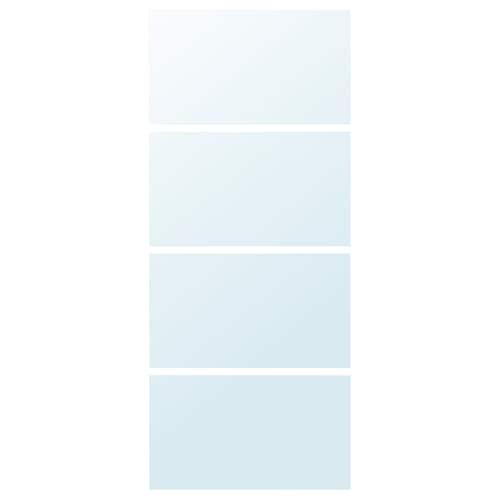 AULI 4 ألواح لهيكل باب إنزلاقي زجاج مرايا 100 سم 236 سم 4 قطعة