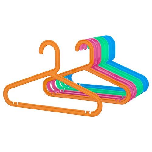 BAGIS علاّقة معاطف الأطفال ألوان مختلطة 34 سم 8 قطعة