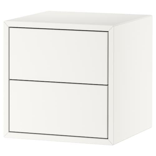 EKET خزانة مع دُرجين أبيض 35 سم 35 سم 35 سم 26 سم 27 سم 1.50 كلغ
