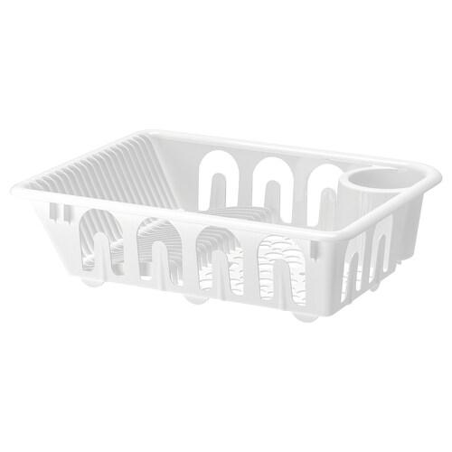 FLUNDRA منصة تجفيف صحون أبيض 46 سم 36 سم 12 سم