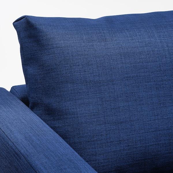 FRIHETEN كنبة-سرير زاوية مع تخزين Skiftebo أزرق 230 سم 151 سم 66 سم 140 سم 204 سم