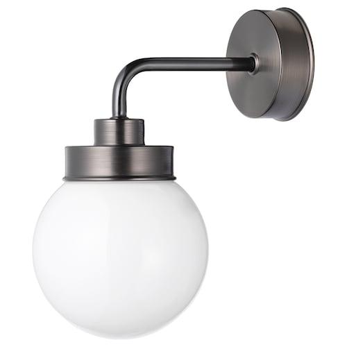 FRIHULT مصباح حائط أسود 5.3 واط 23.0 سم 26.5 سم 14 سم